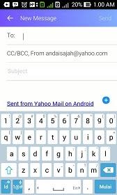 cara menggunakan email yahoo lewat hp