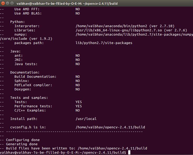 Computer Vision Talks: Installing OpenCV-2 4 11 on ubuntu 14 04