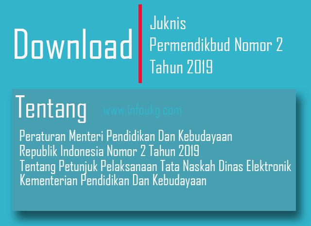 Permendikbud Nomor 2 Tahun 2019 Tentang Petunjuk Pelaksanaan Naskah Dinas Elektronik Format Pdf
