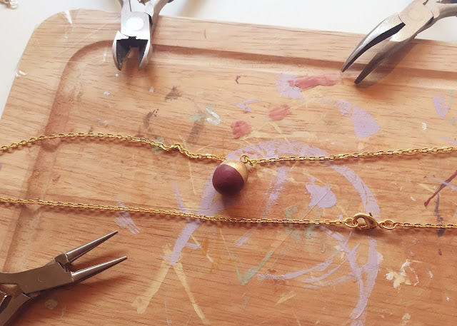 DIY Clay Sphere Dipped Necklace