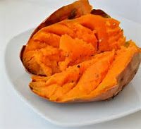 A BAKED SWEET POTATO IS A HEALTHY CHOICE