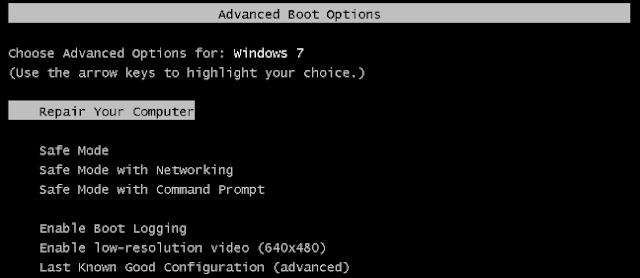 memperbaiki startup pada pc windows 7