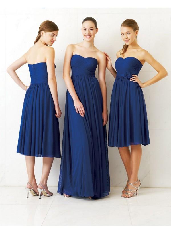 Blue Bridesmaid Dresses Designs