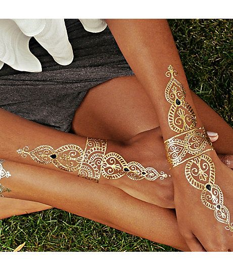Stunning Gold Tattoo For Girls
