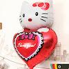Balon Foil Hello Kitty I LOVE YOU (Ukuran Besar)
