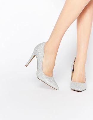 zapatos plateados para fiesta