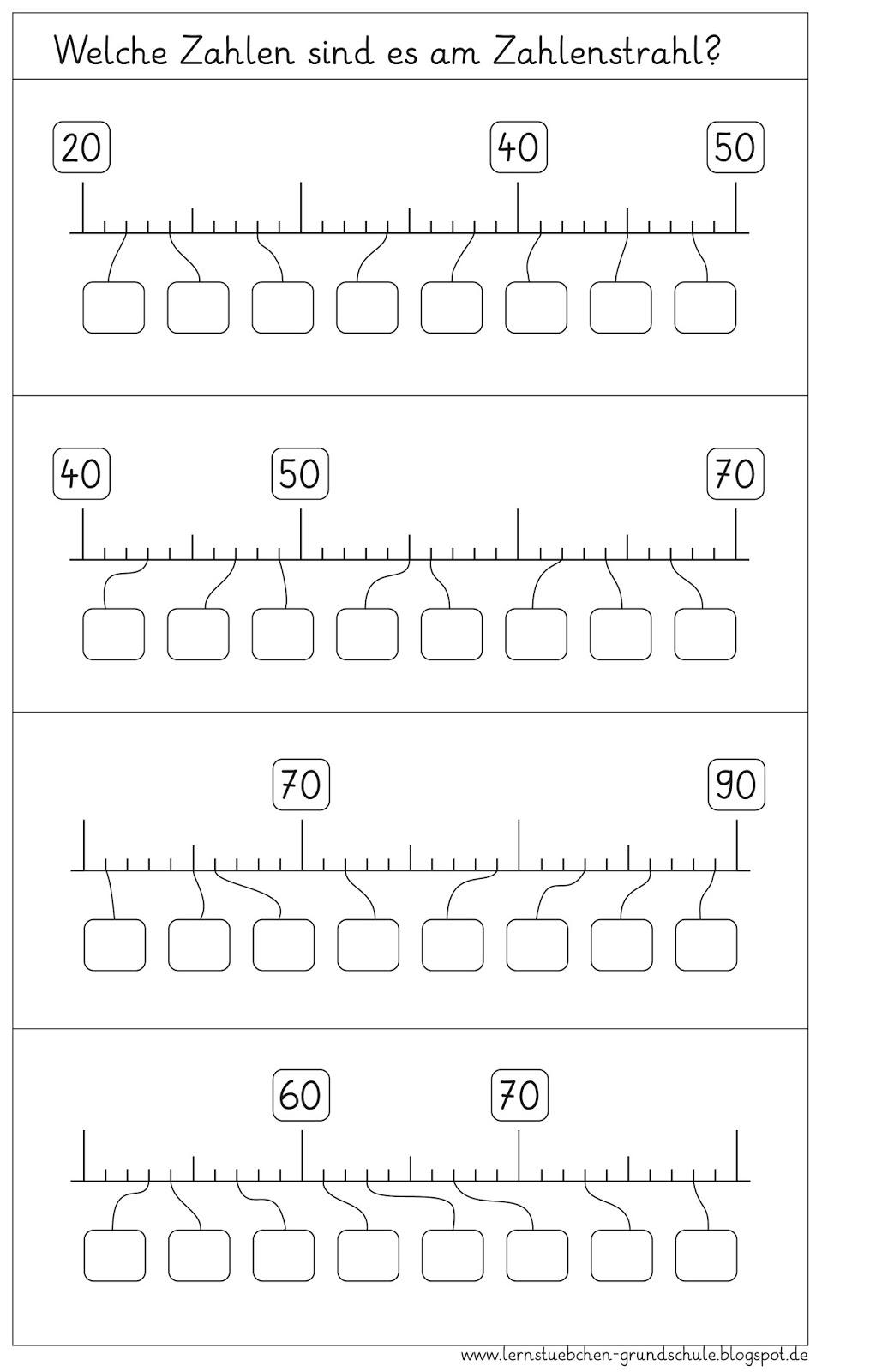 Lernstübchen: Zahlenstahl AB (1)