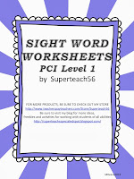 http://www.teacherspayteachers.com/Product/Sight-Word-Worksheets-PCI-Reading-Program-Level-1-Words-1043720