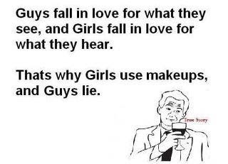 Why Men and Women Fall in Love?