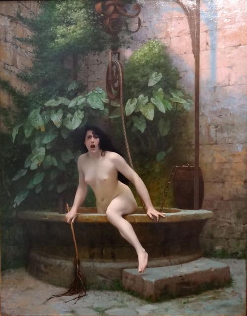 #PraCegoVer: A Verdade saindo do poço, quadro realizado pelo artista francês Jean-Léon Gérôme.