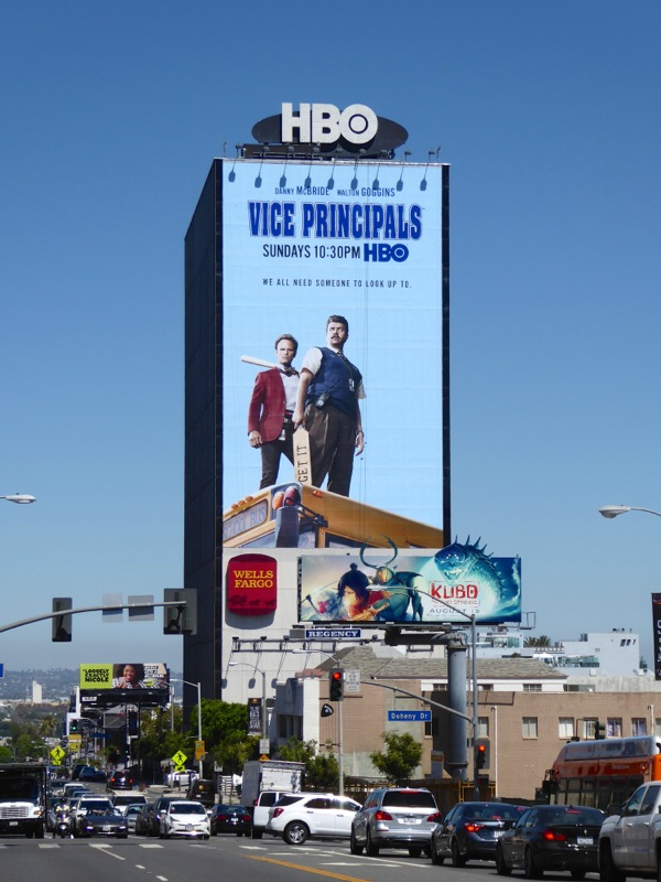 Giant Vice Principals series billboard Sunset Strip