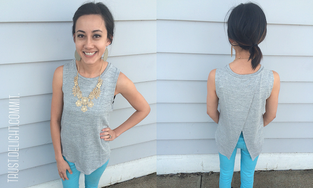 February 2016 Stitch Fix Review - RD Style Novalli Split Back Top