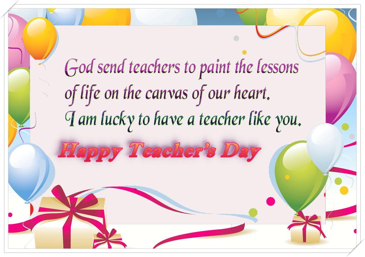 happy teachers day card printable