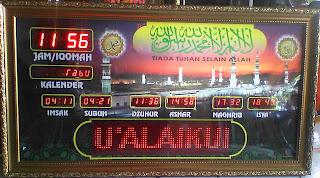 Jadwal sholat digital Aceh