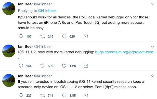 ثغرة جديدة تسمح باطلاق جيلبريك iOS 11 قريباً