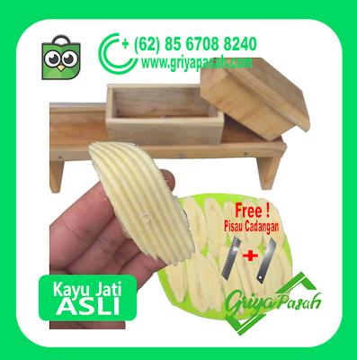 pemotong pisang bergelombang kayu jati