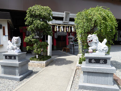 萱島神社 狛犬 鳥居