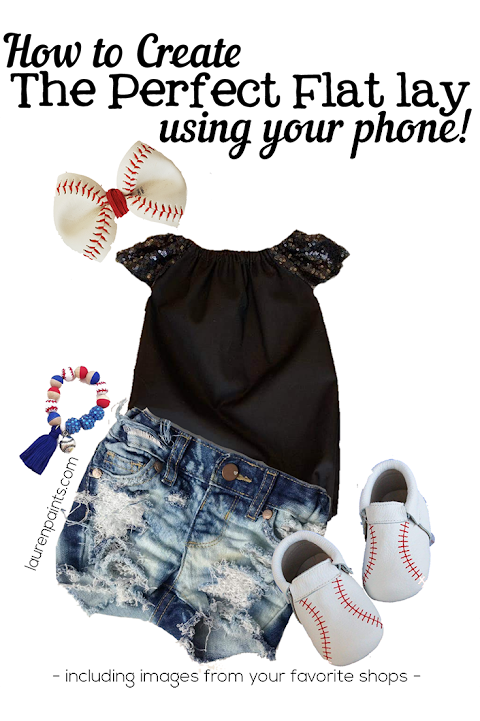How to Create a Flat lay with Your Phone!