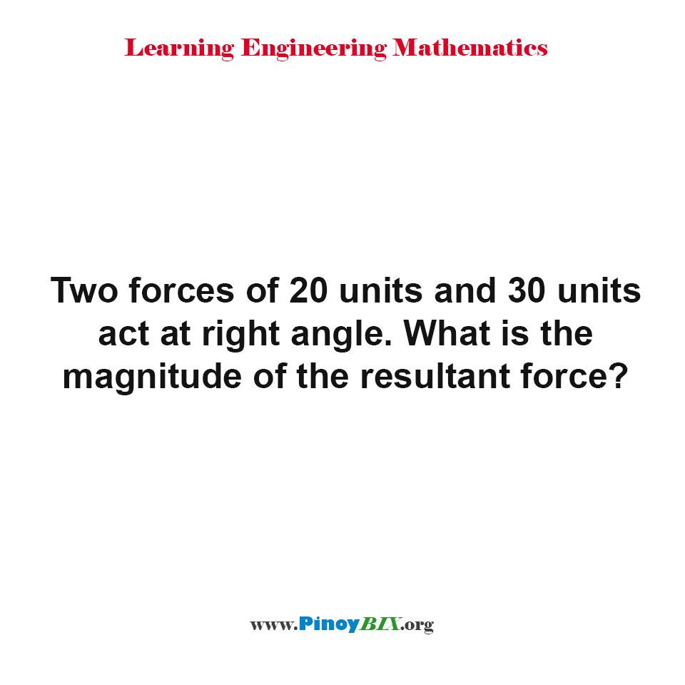 What is the magnitude of the resultant force?