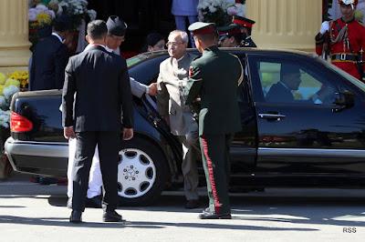 indian president mukherjee in kathmandu