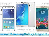 Galaxy J5 (2015) vs J5 (2016) vs J5 Prime Harga dan Spesifikasi