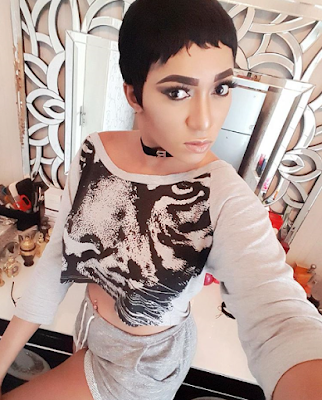Rukky Sanda share her short hair new look
