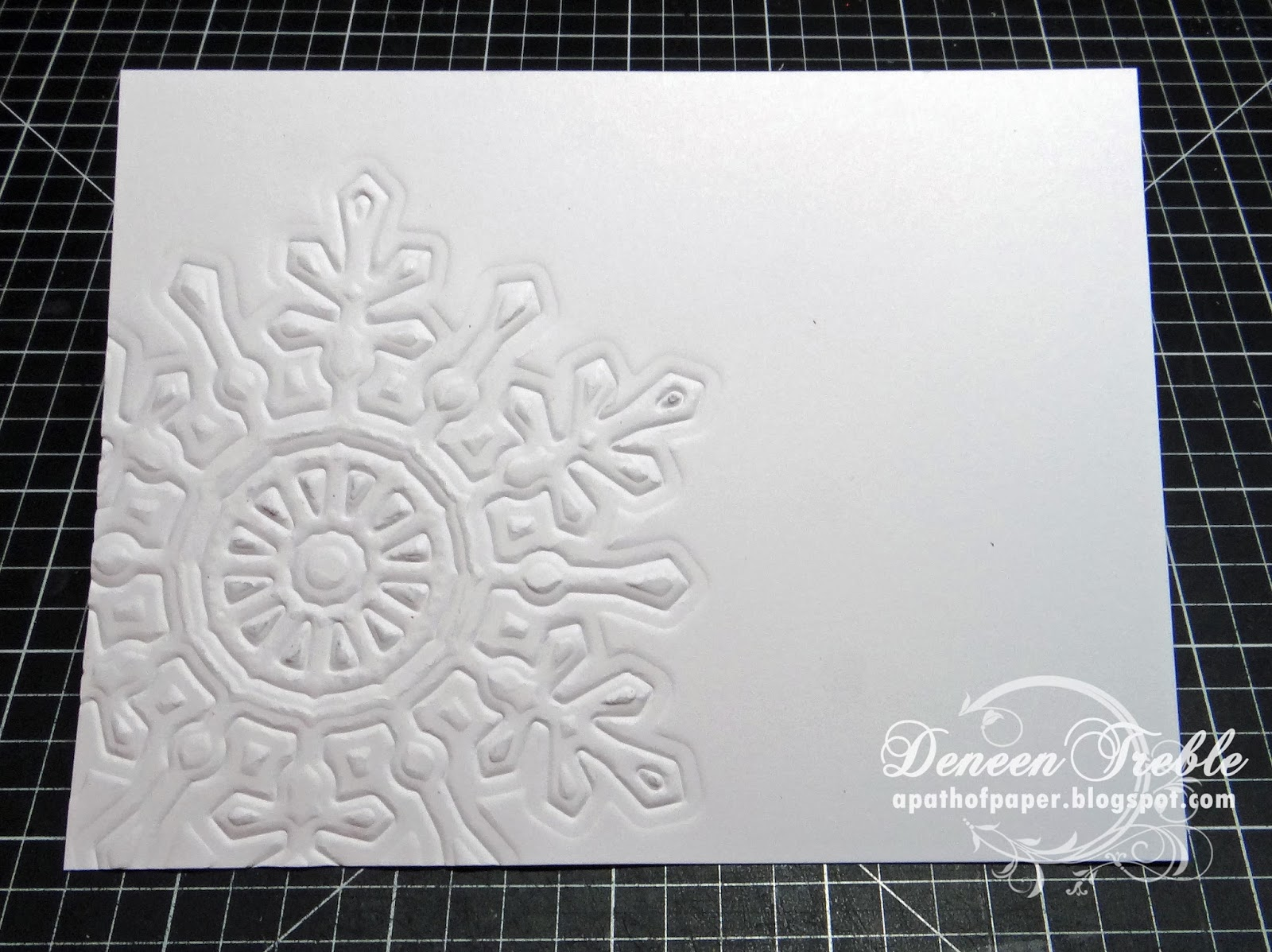 A Path Of Paper Inspired Stamps Embossing Techniques