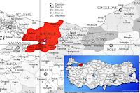 Gölcük ilçesinin nerede olduğunu gösteren harita