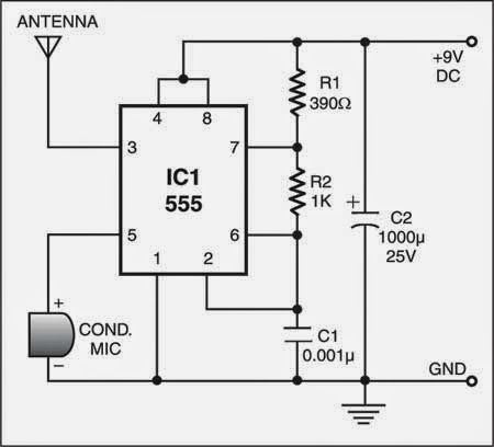 LowRange AM Radio Transmitter Circuit Diagram