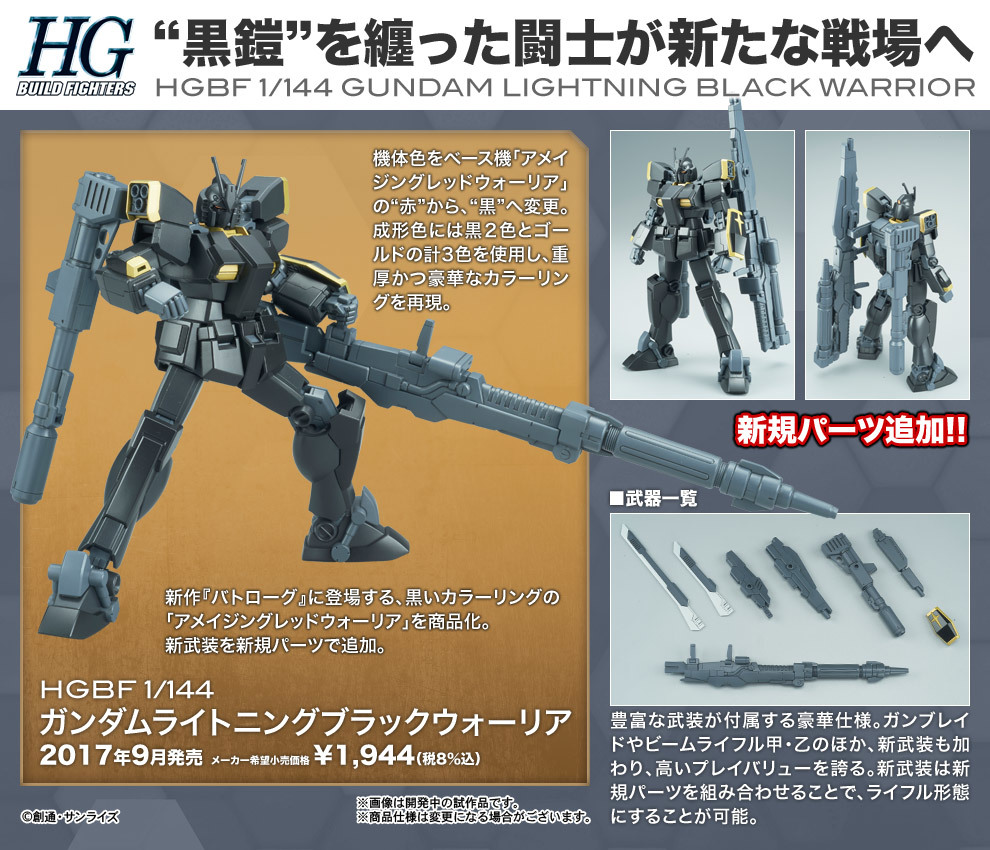 Image result for HGBF 1/144 Gundam Lightning Black Warrior box