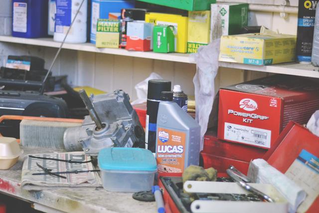 Inside Websters' Garage
