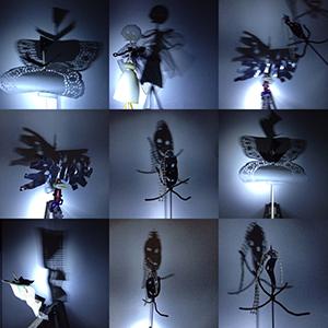 Bakfietsjuf spannende schaduw maken beelden in het donker - Schaduw maken ...