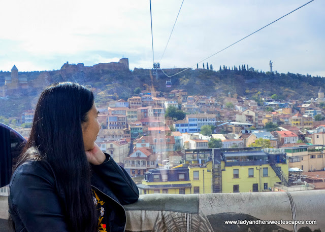 The cable car ride offers the best views of Old Tbilisi