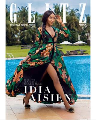Idia Aisen Glitz Africa Magazine cover