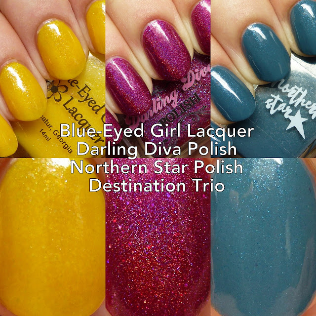 Blue-Eyed Girl Lacquer, Darling Diva Polish, and Northern Star Polish Destination Trio