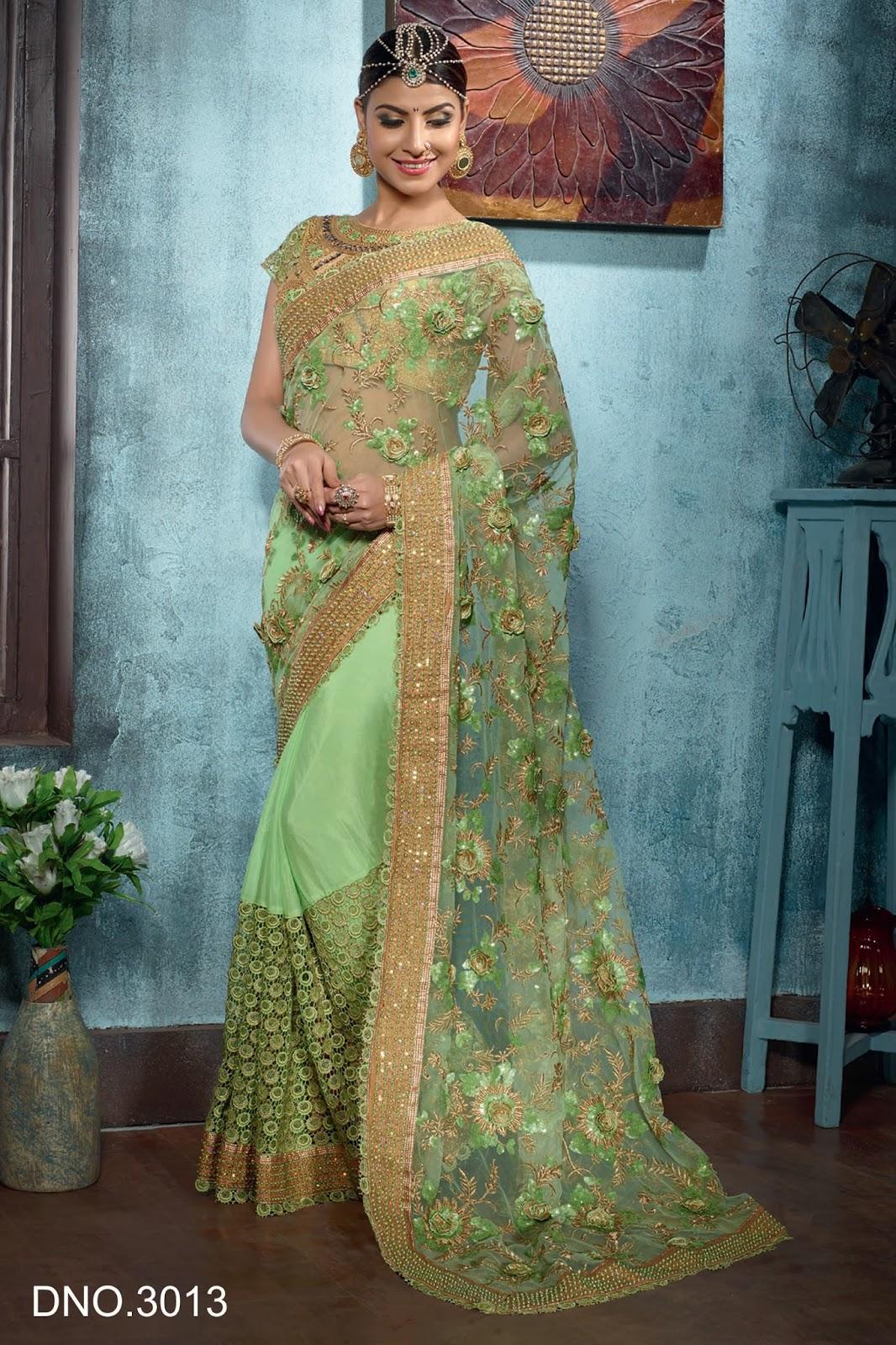 Suhagan - Heavy Embroidered Fancy Saree Online - Helix Enterprise ...