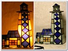 Stained GLASS WINDOW Lighthouse