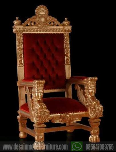Kursi raja ukiran jepara warna emas