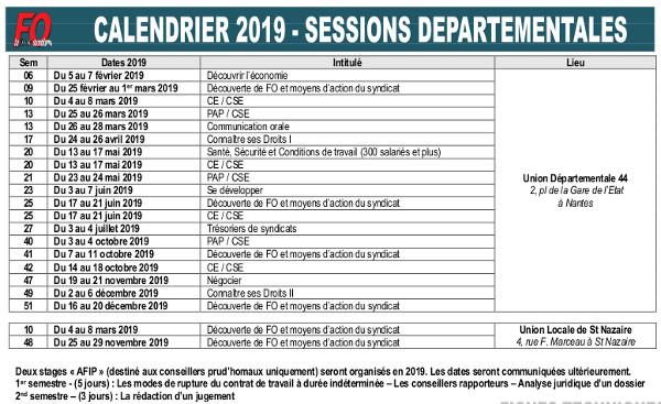 7c1162b203e FO - Loire Atlantique  STAGES DE FORMATION