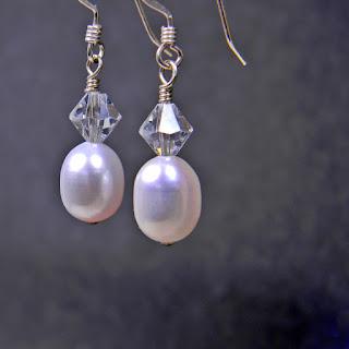 workplace jewelry classic pearl earrings