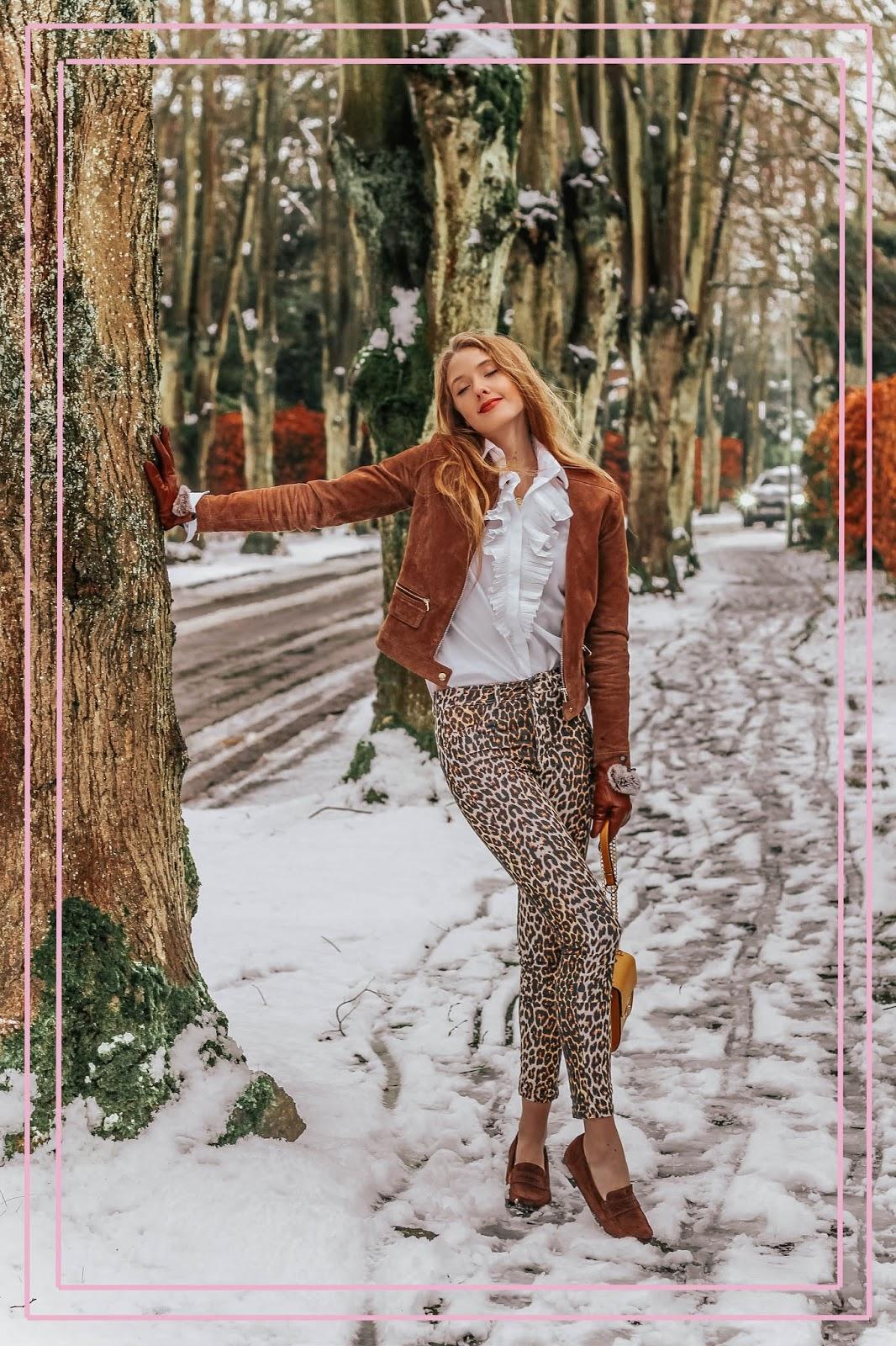 Calzedonia leopard print jeans leggings