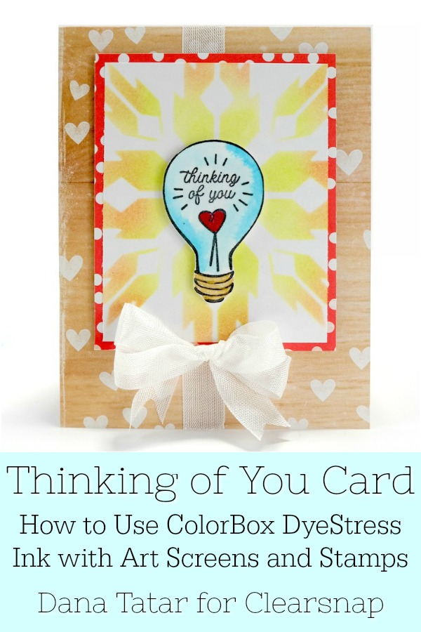 Thinking of You Handmade Greeting Card Tutorial