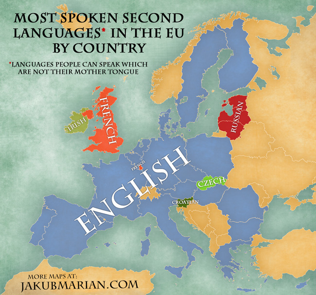 A World Of Englishes English No Longer An Official EU Language - 3 most common languages in the world