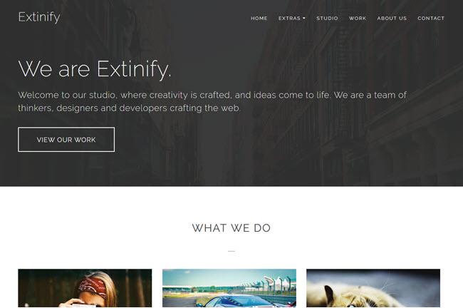 Extinify - Portfolio Blogger Template