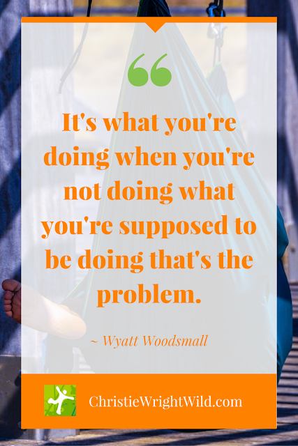 """It's what you're doing when you're not doing what you're supposed to be doing that's the problem."" ~Wyatt Woodsmall 