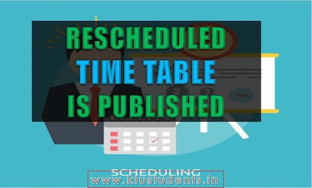 ktu new exam time table