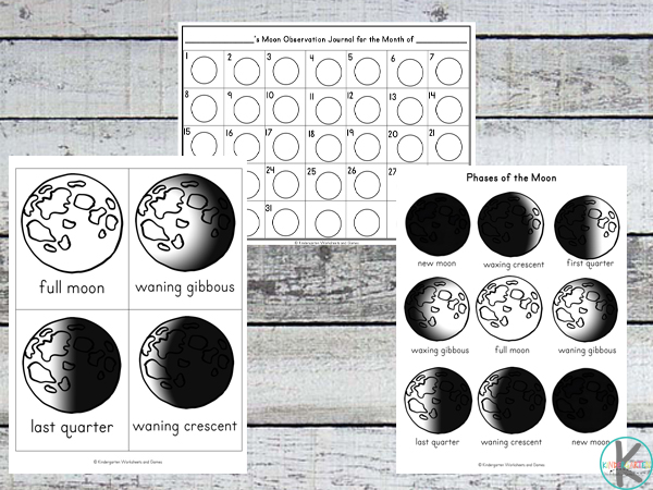 Moon Phases Worksheets on 1st Astronaut On The Moon Worksheets