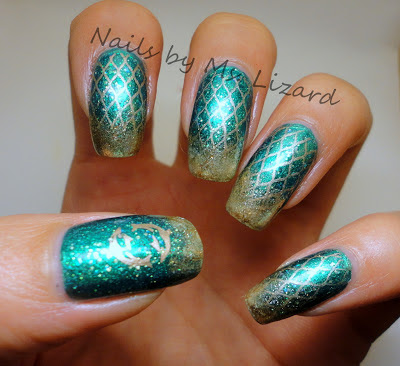 Nails by Ms. Lizard: Mermaid nails