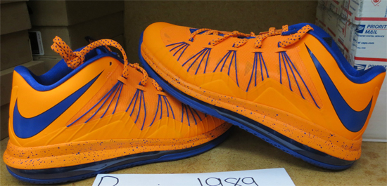 low priced 1e8bd 30a86 This Nike Air Max LeBron X Low comes in a bright citrus and blackened blue  colorway. Nicknamed the