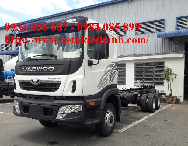 Xe tải 3 chân Daewoo prima 15,5 tấn